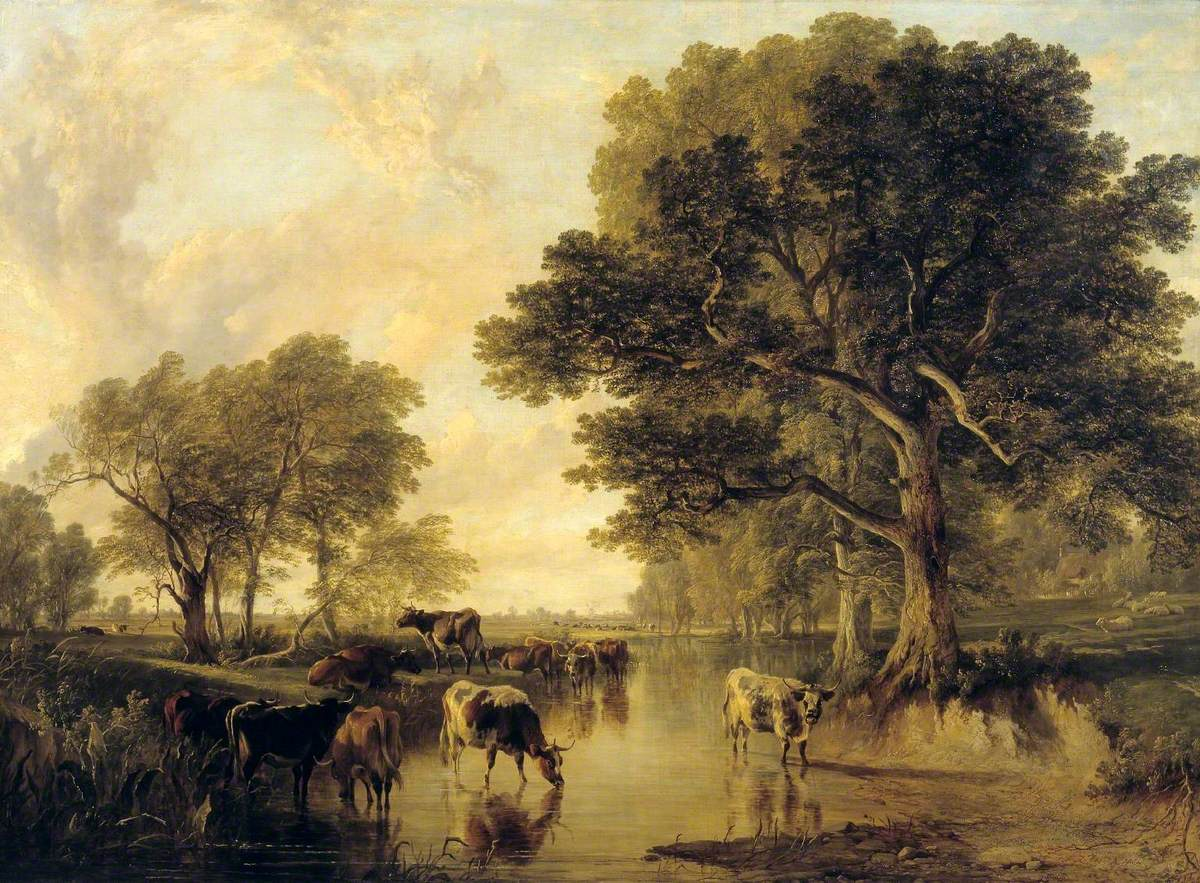 Evening in the Meadows (cattle by Thomas Sidney Cooper)