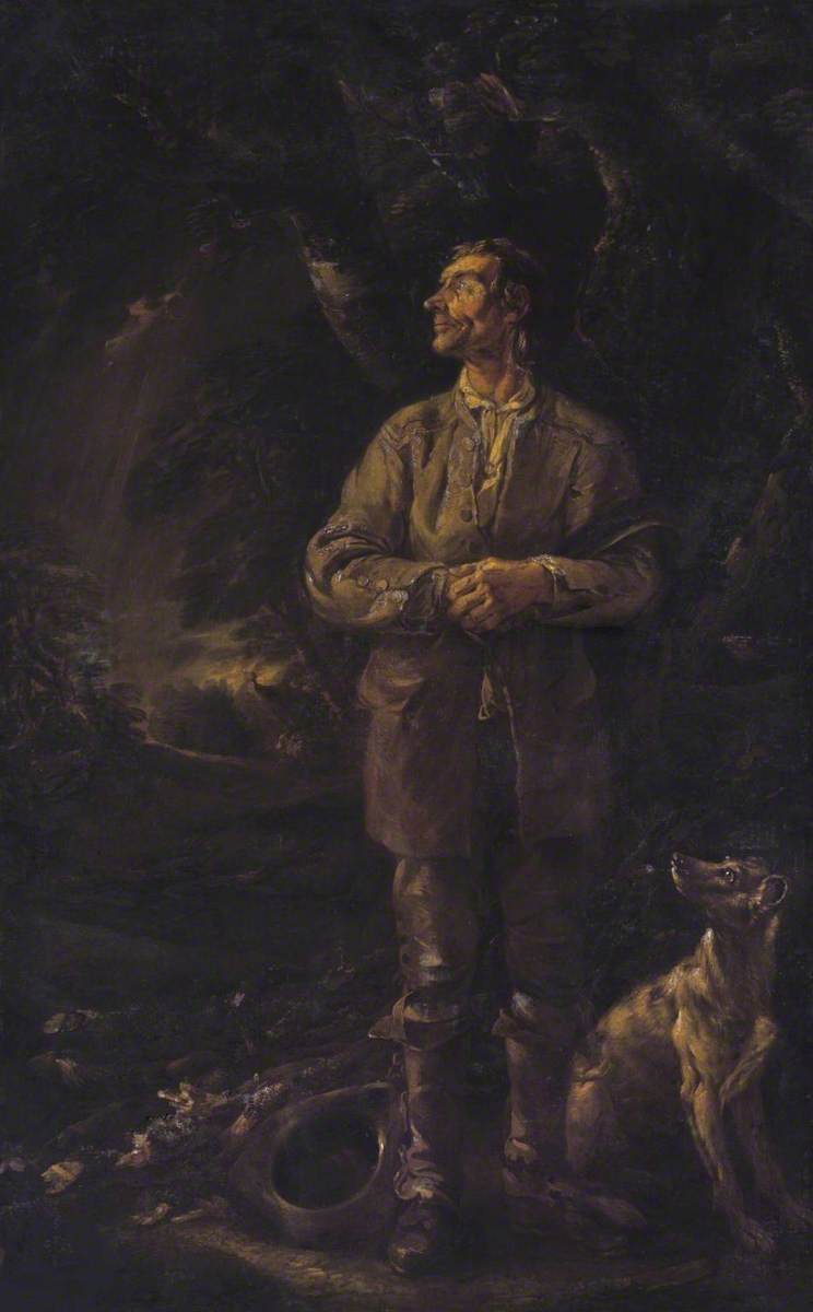 The Woodman and his Dog in a Storm