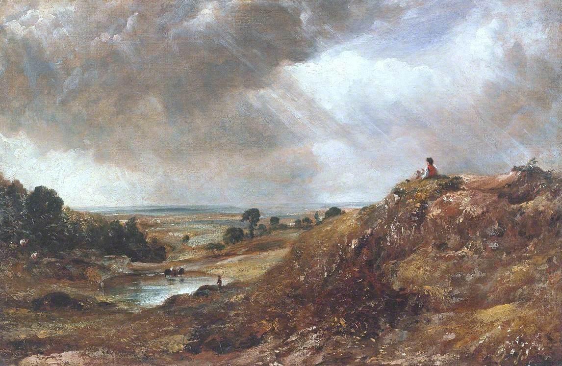 Branch Hill Pond, Hampstead Heath, with a Boy Sitting on a Bank