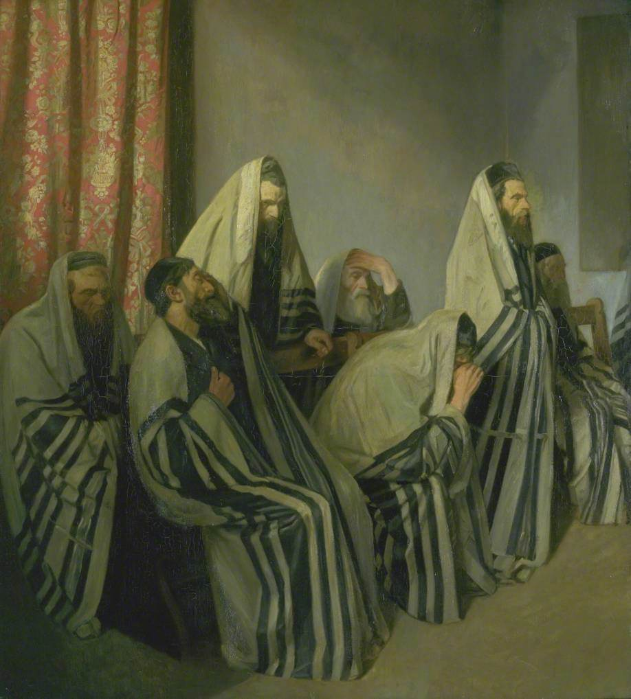 Jews Mourning in a Synagogue