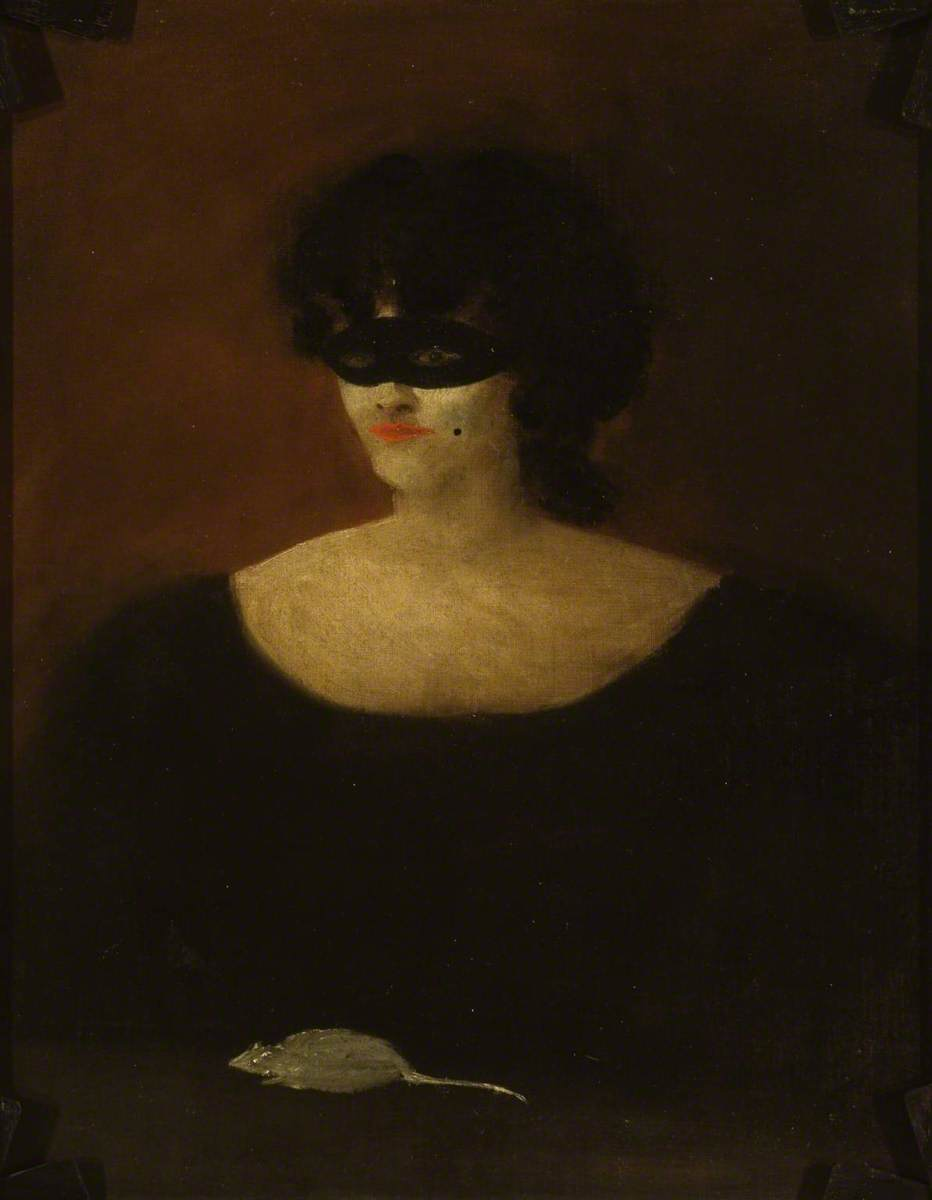 Caprice. Verso: Masked Woman with a White Mouse