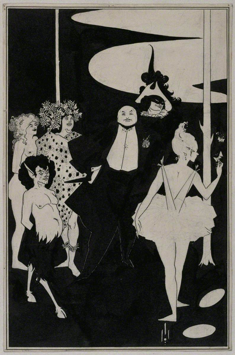 Design for the Frontispiece to John Davidson's Plays