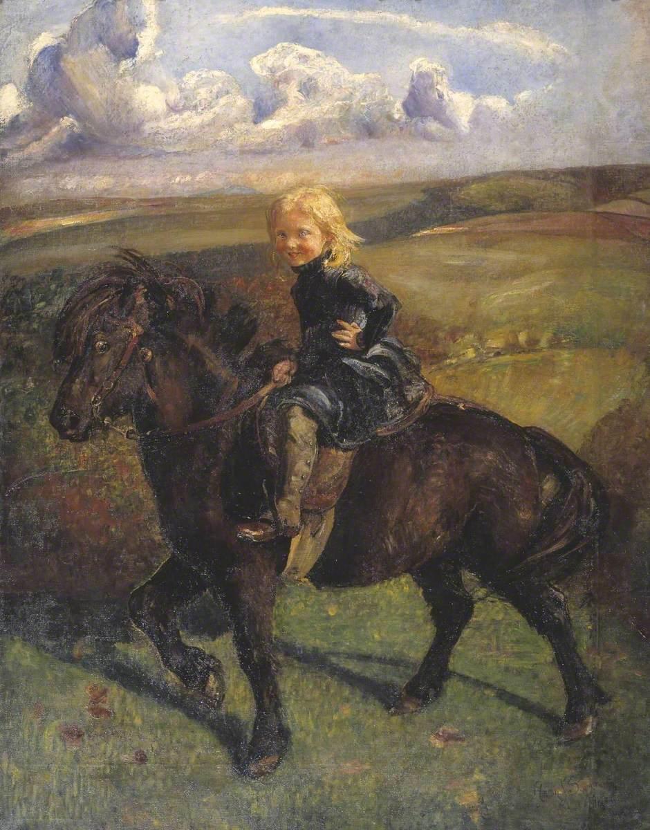 Miss Elizabeth Williamson on a Pony