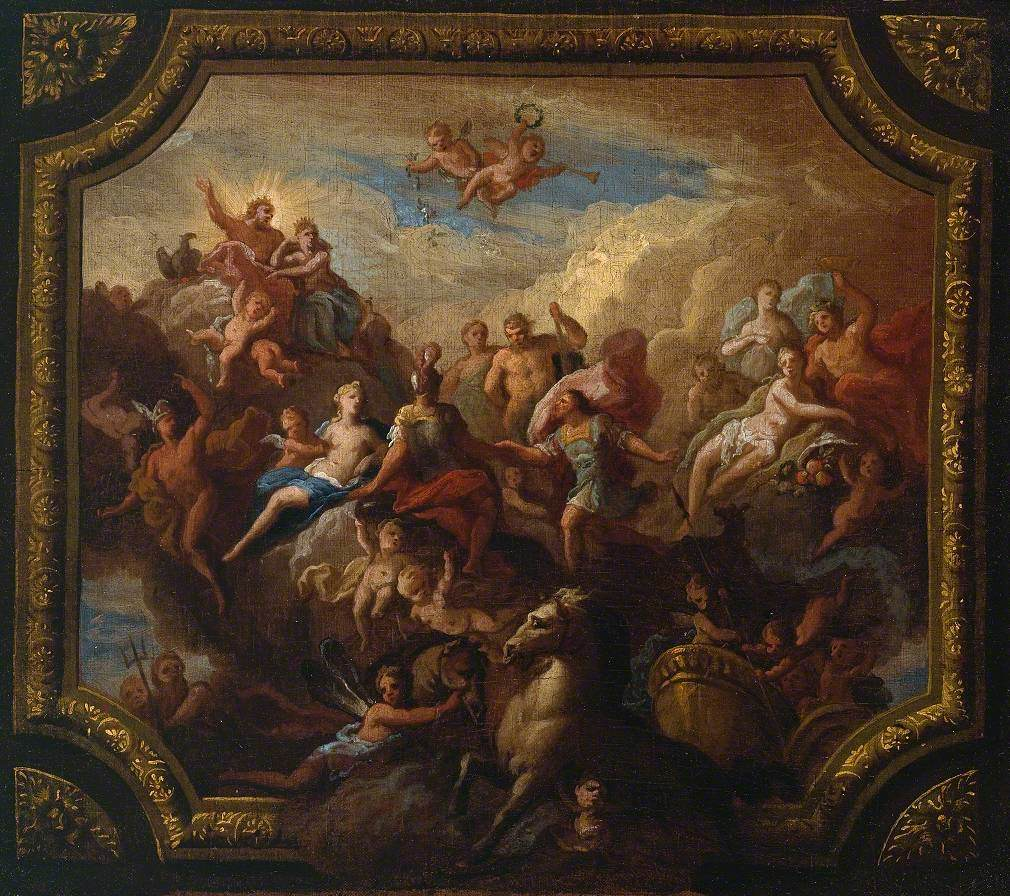 The Apotheosis of Romulus: Sketch for a Ceiling Decoration, Possibly for Hewell Grange, Worcestershire