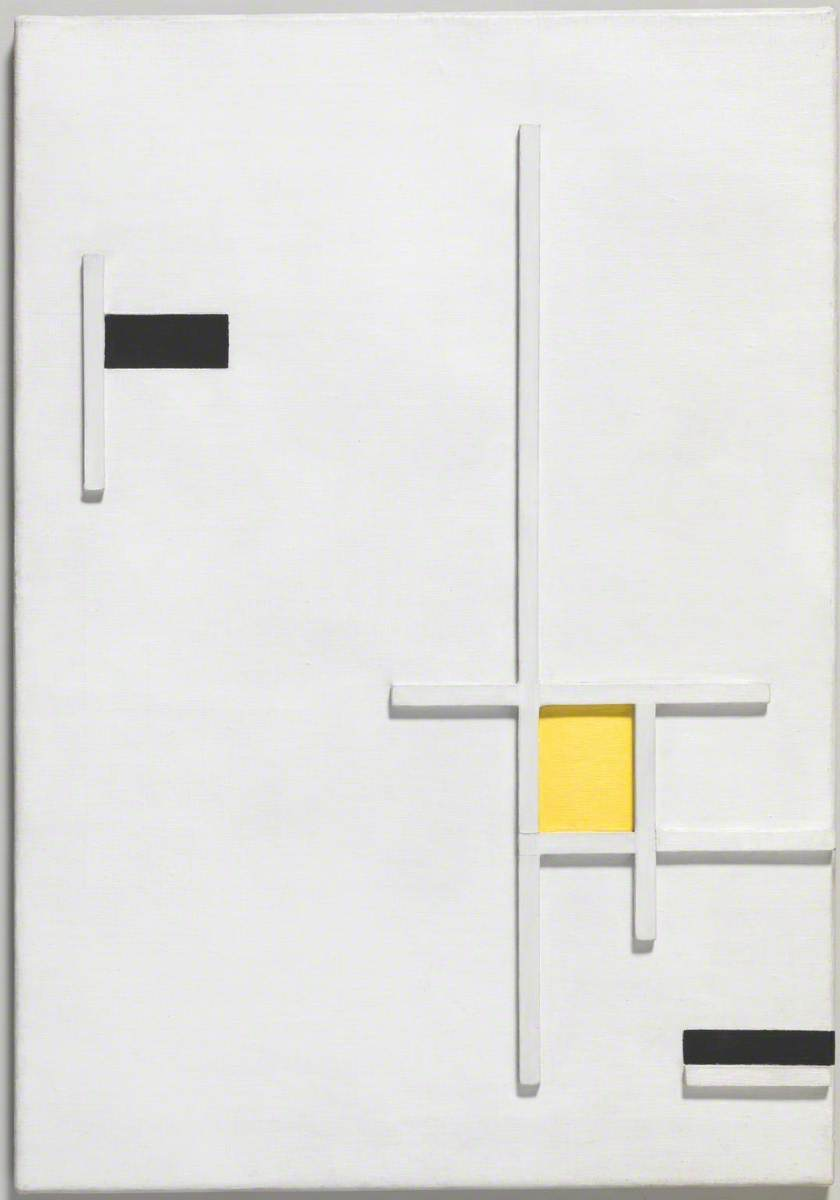 Composition in Yellow, Black and White