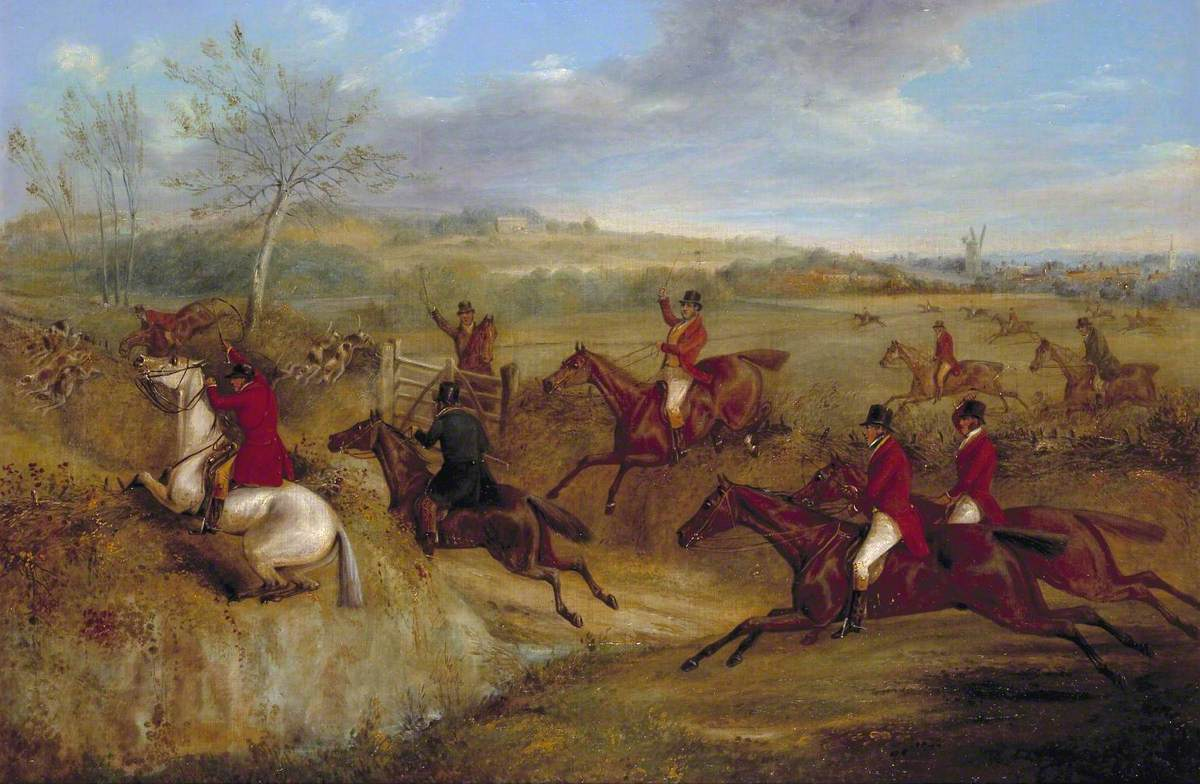 The Belvoir Hunt: Jumping into and out of a Lane