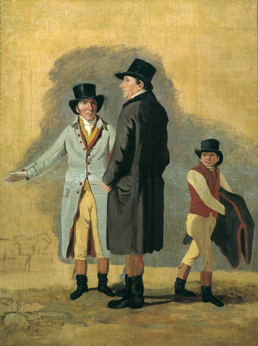 Sir Charles Bunbury with Cox, his Trainer, and a Stable-Lad: A Study for 'Surprise and Eleanor'