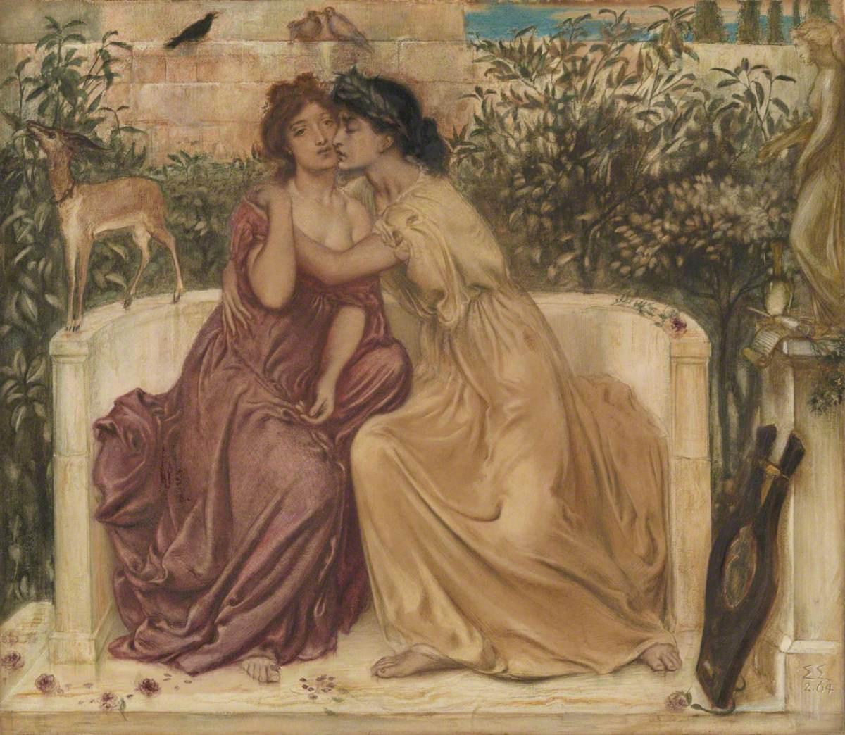 Sappho and Erinna in a Garden at Mytilene