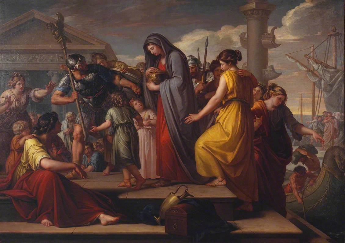 Agrippina Landing at Brindisium with the Ashes of Germanicus