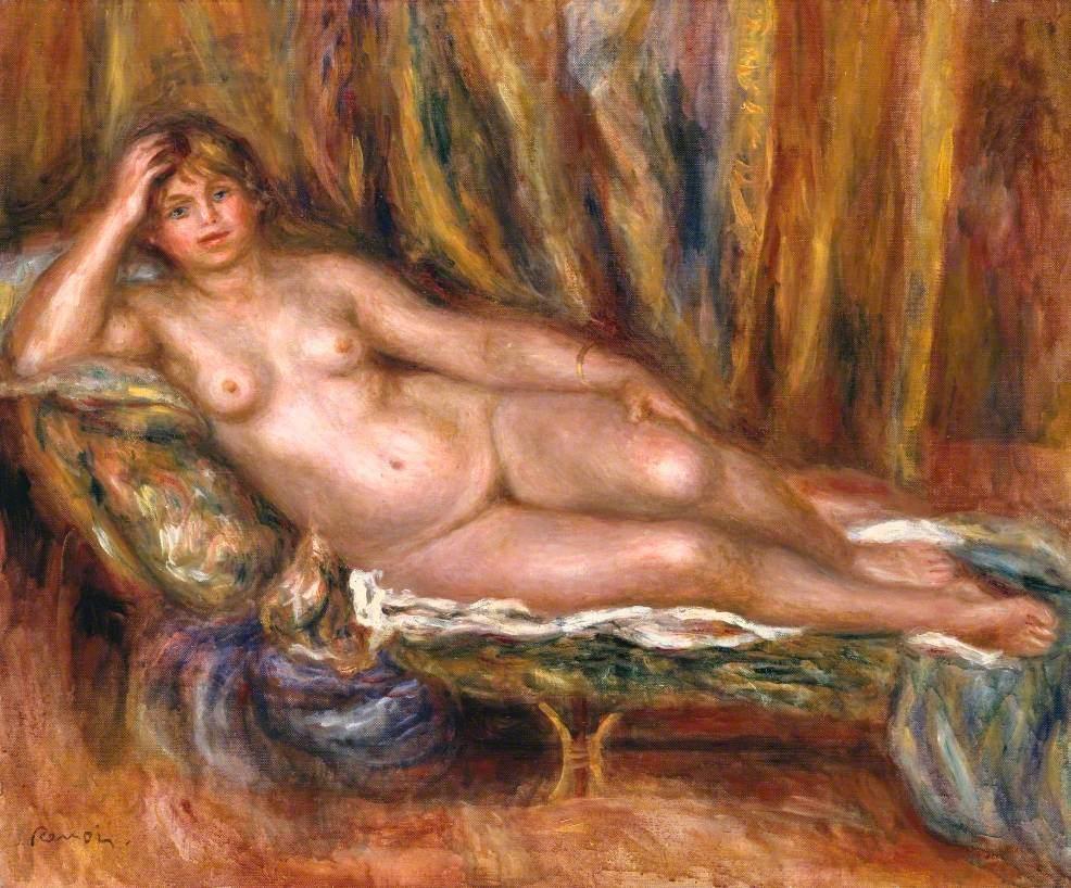 Nude on a Couch (Femme nue sur un canapé)