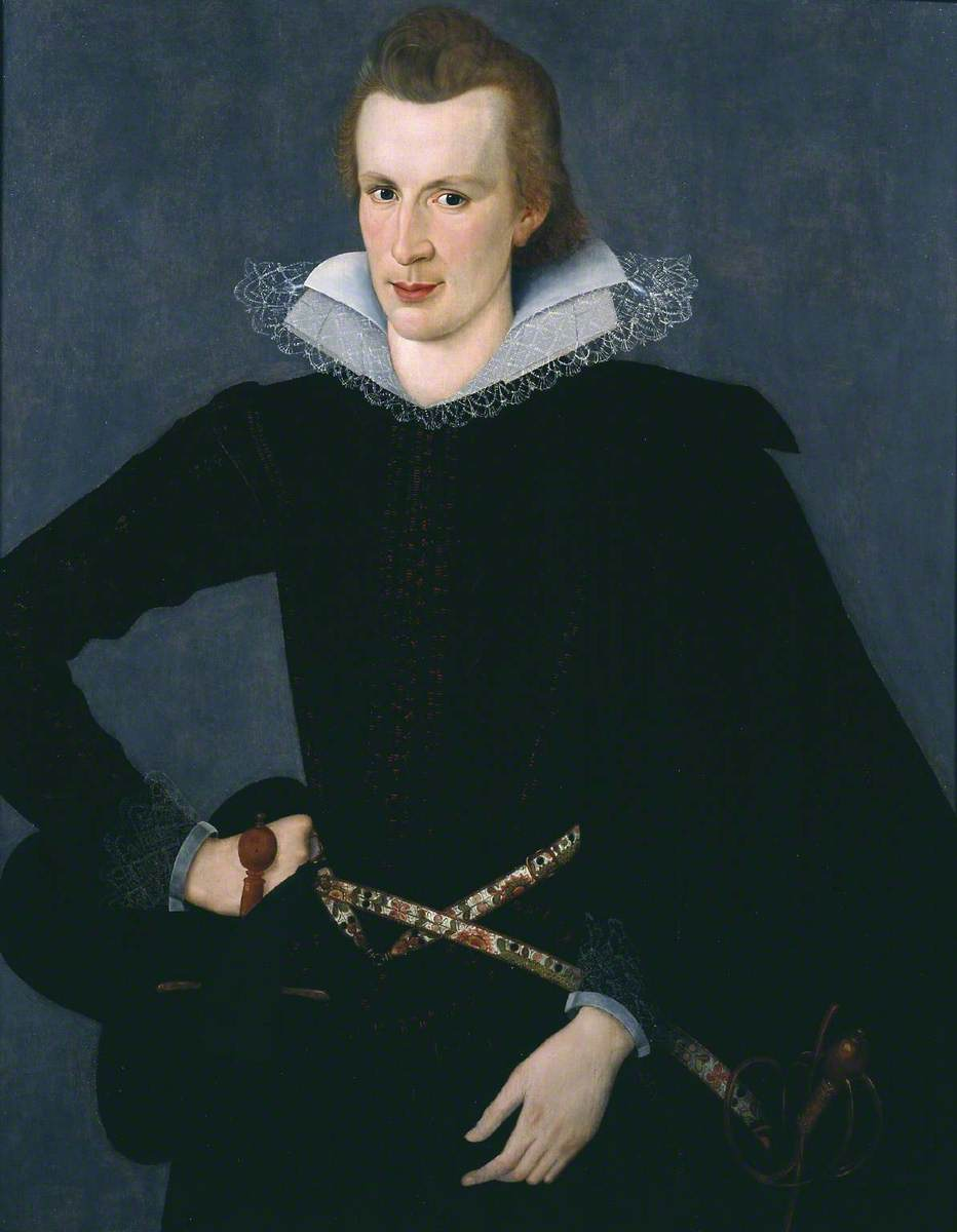 Portrait of a Man in a Slashed Black Doublet