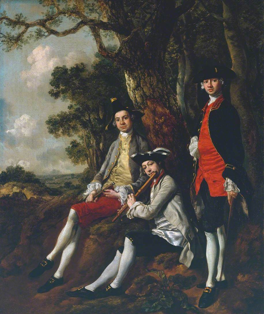 Peter Darnell Muilman, Charles Crokatt and William Keable in a Landscape