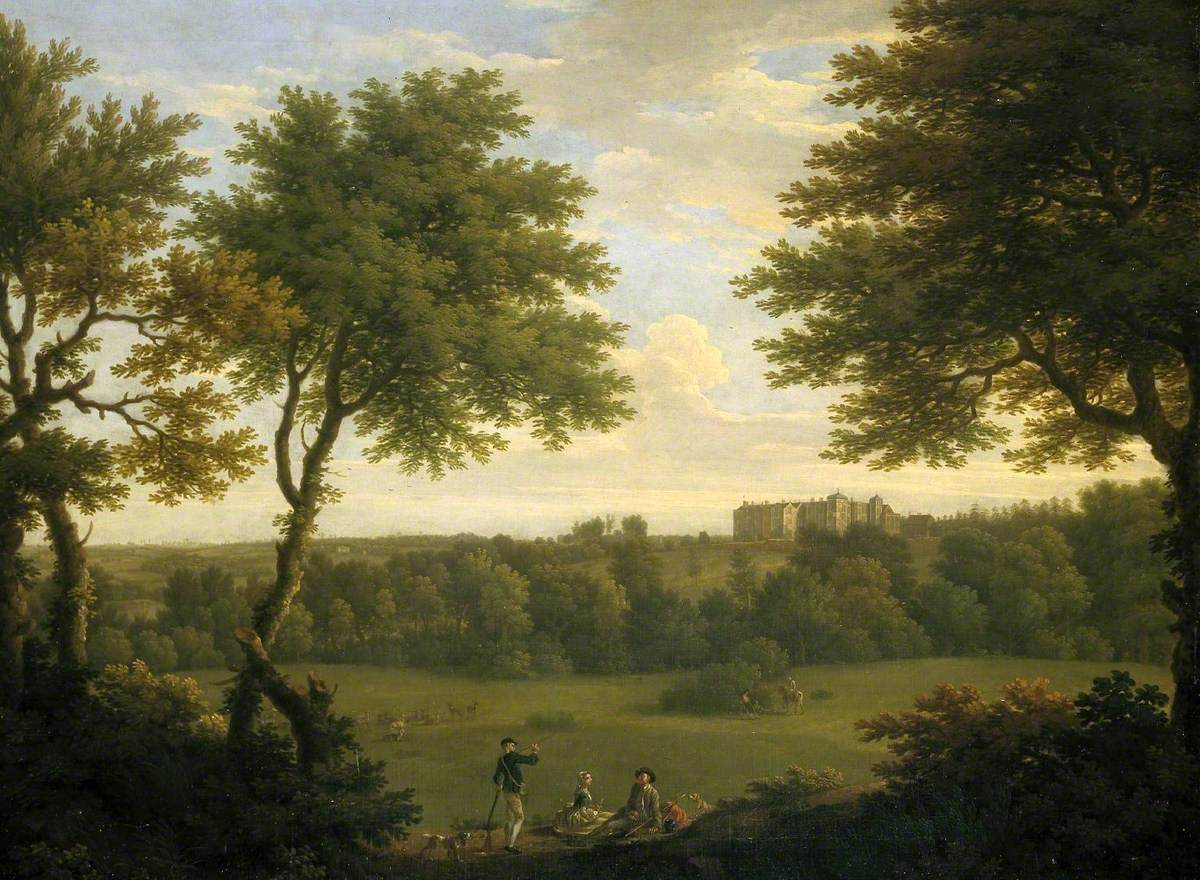 View of Copped Hall in Essex, from the Park