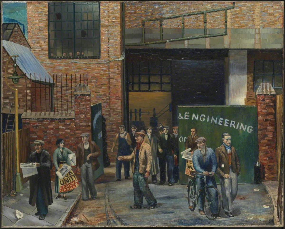 Selling the 'Daily Worker' outside Projectile Engineering Works