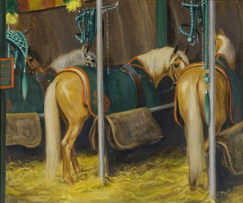 Circus Ponies in Stalls