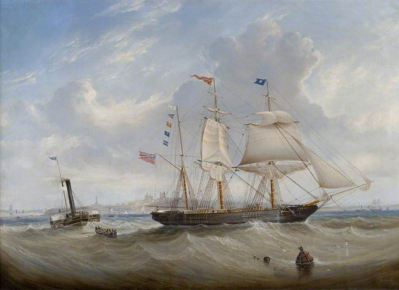 The Sailing Ship 'Anne' Leaving the River Tyne