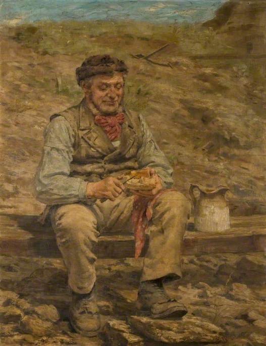 Workman Eating Lunch