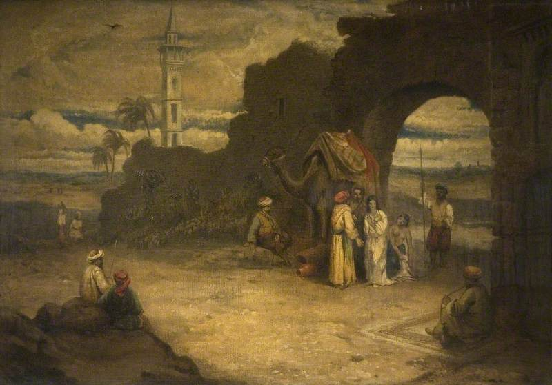 Eastern Scene (The White Slave)