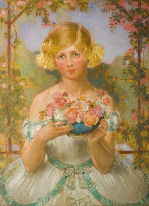 Jane with a Bowl of Roses