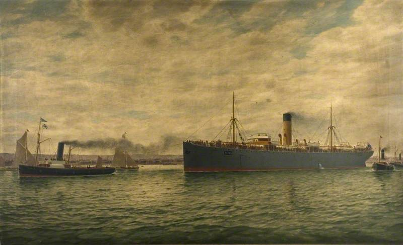 SS 'Winkfield' Bound for South Africa with Troops, July 1890