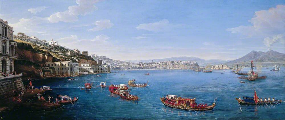 Posillipo with the Palazzo Donn'Anna, Naples, Italy