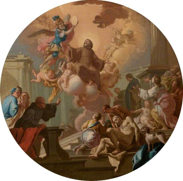 The Reception of Saint John of God into Heaven