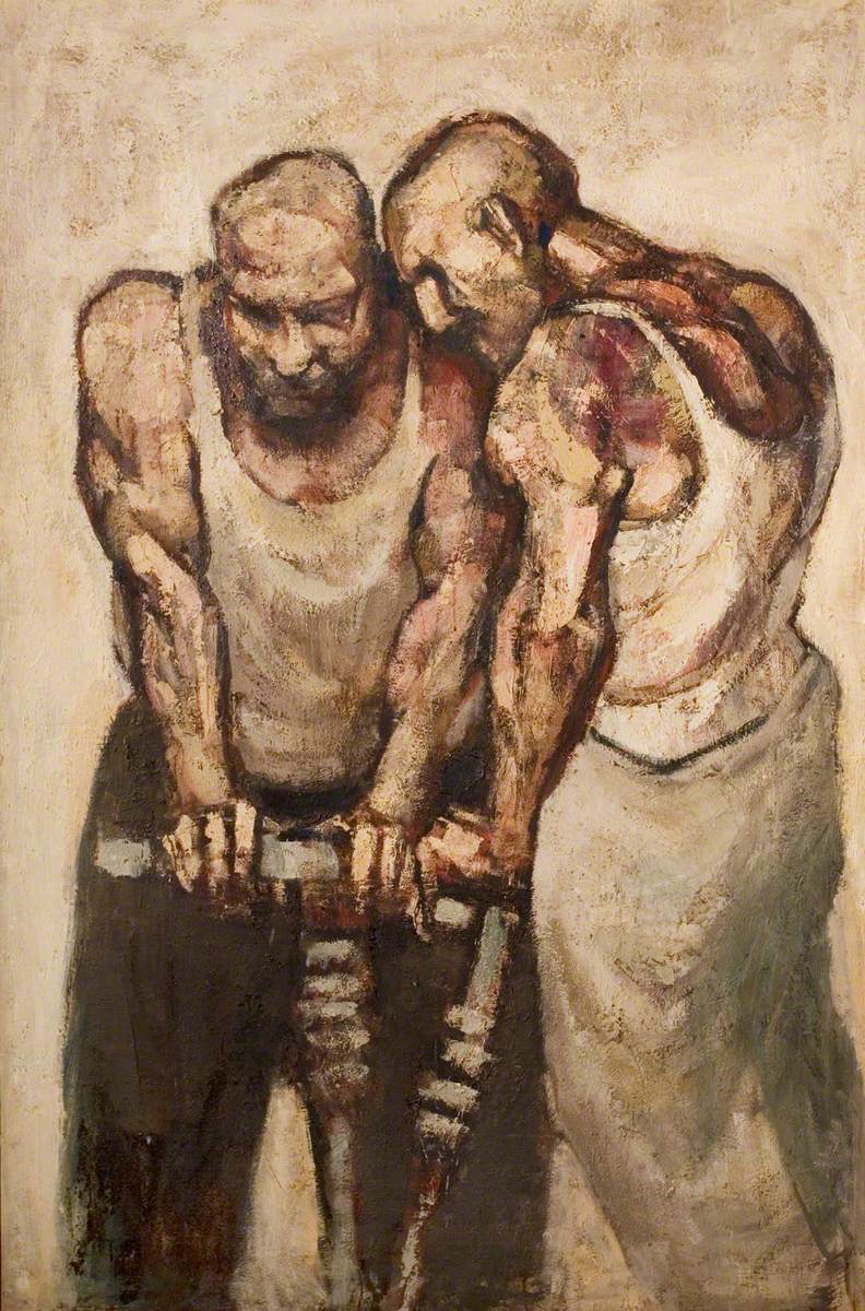 Two Men Drilling