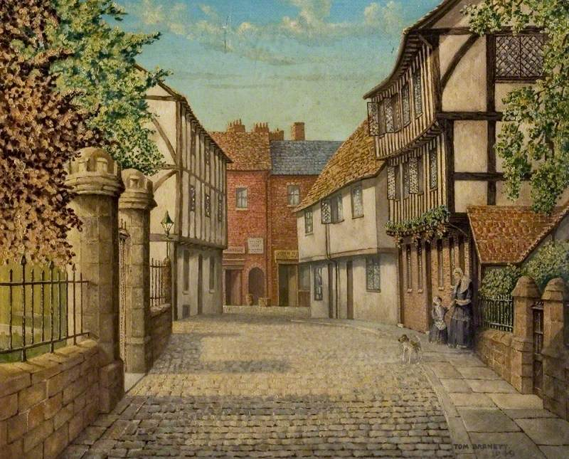 Priory Row, Coventry, as It Was in 1860