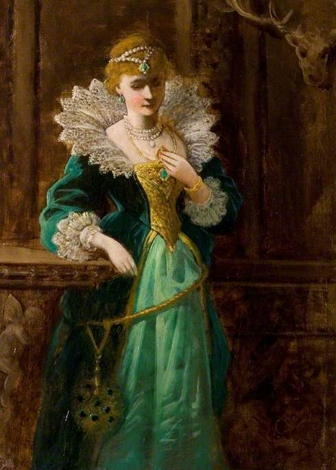 Amy Robsart (1532–1560), Looking at the Portrait of Leicester