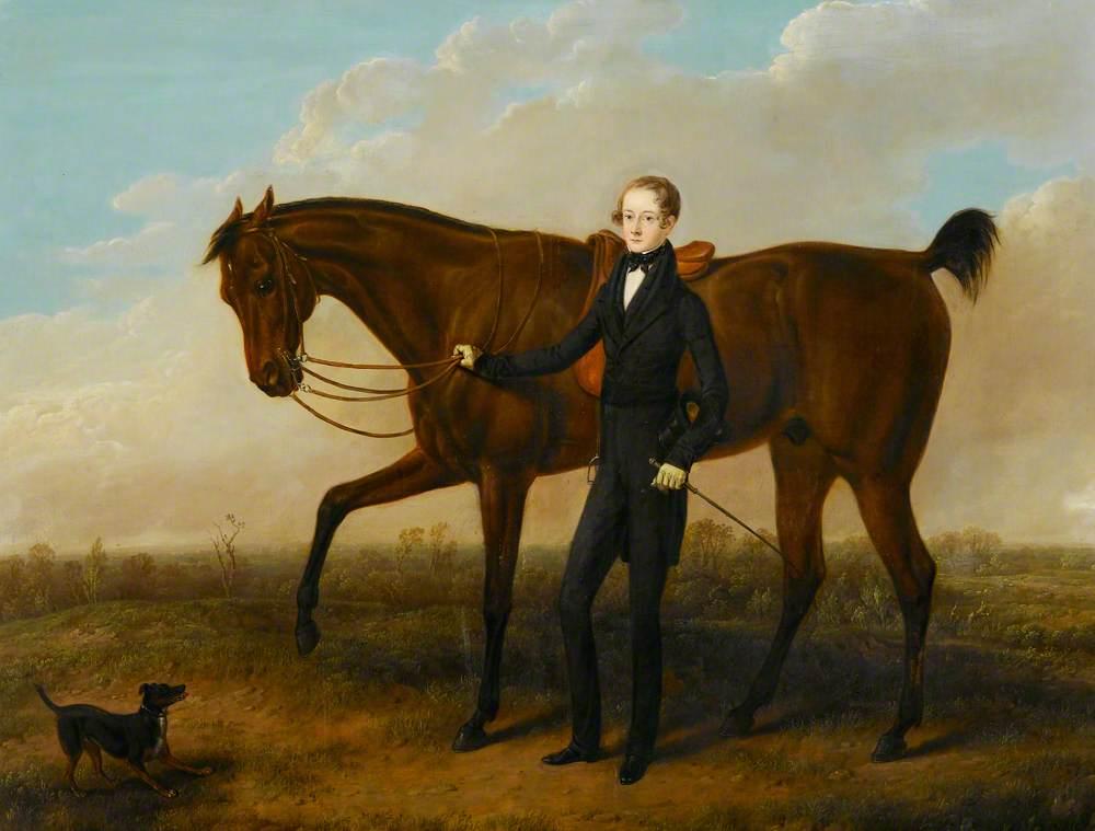 Richard (?) Kevitt Rotherham with His Horse