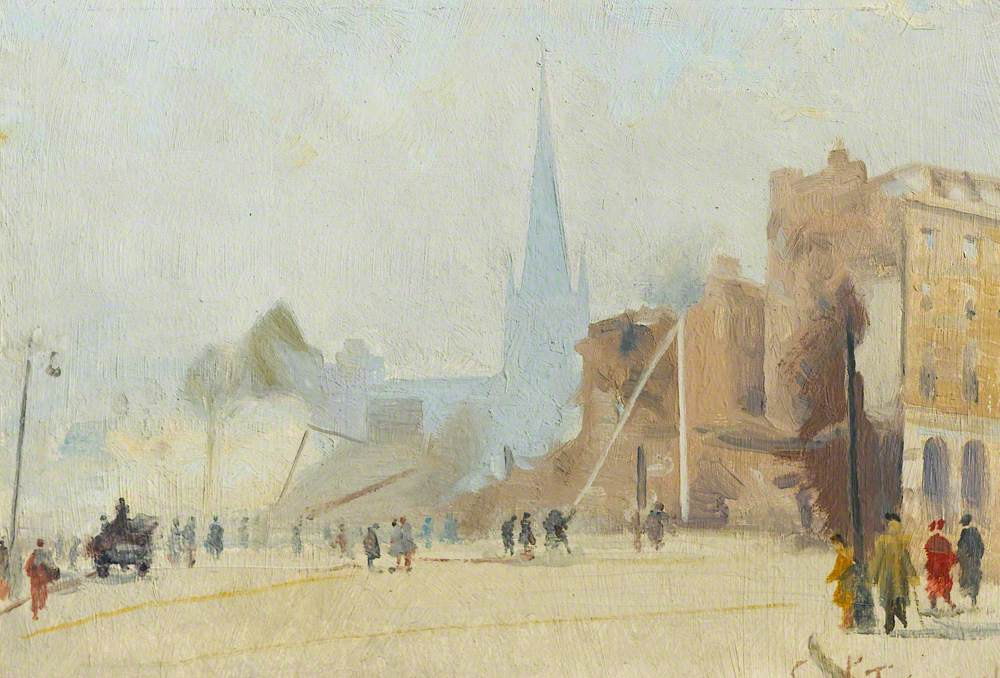 Broadgate, Coventry after a Raid, November 1940