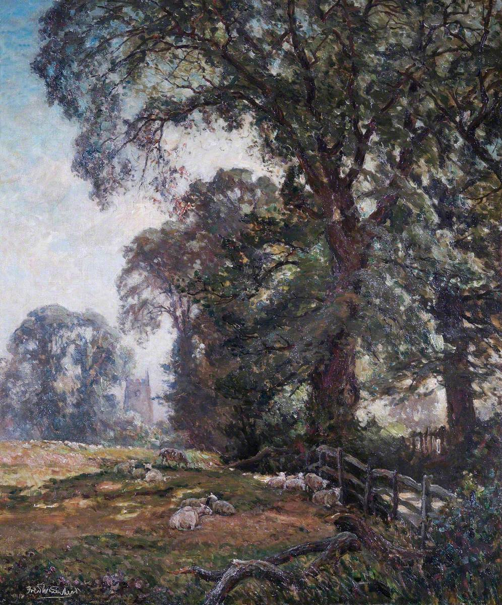 Landscape with Lillington Church, Warwickshire, in the Background