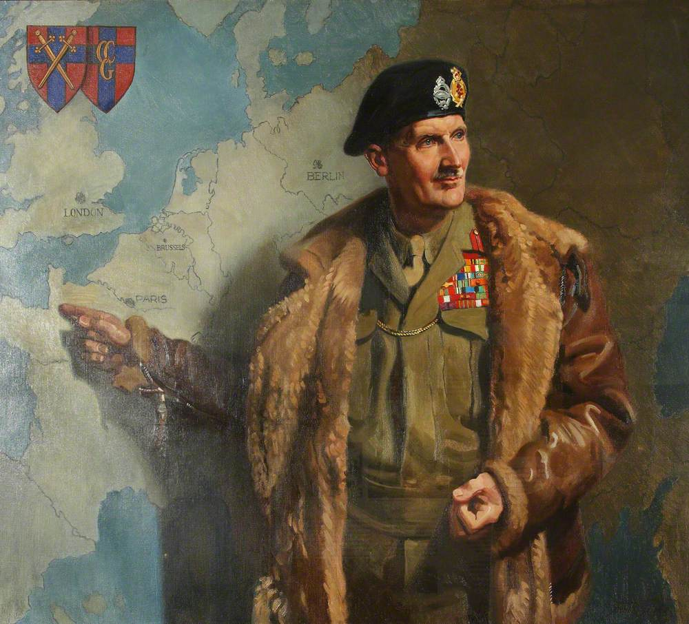 Field Marshal Bernard 'Monty' Montgomery (1887–1976), Commander-in-Chief, 21st Army Group, Second World War (after Frank O. Salisbury)