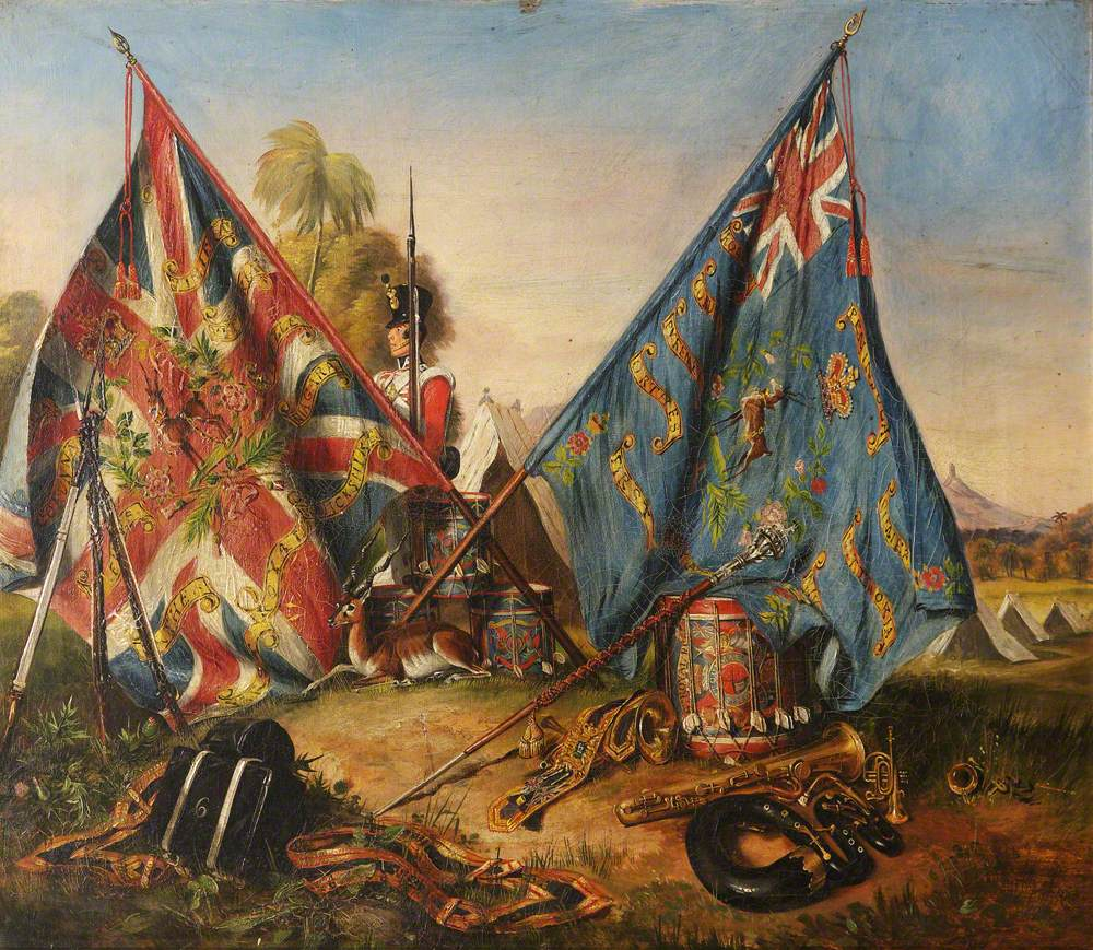The Colours of the Royal Warwickshire Regiment (6th Regiment of Foot)