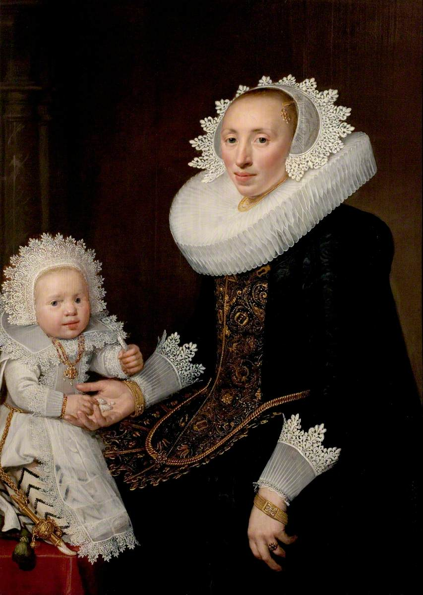Portrait of an Unknown Woman and Her Infant Son