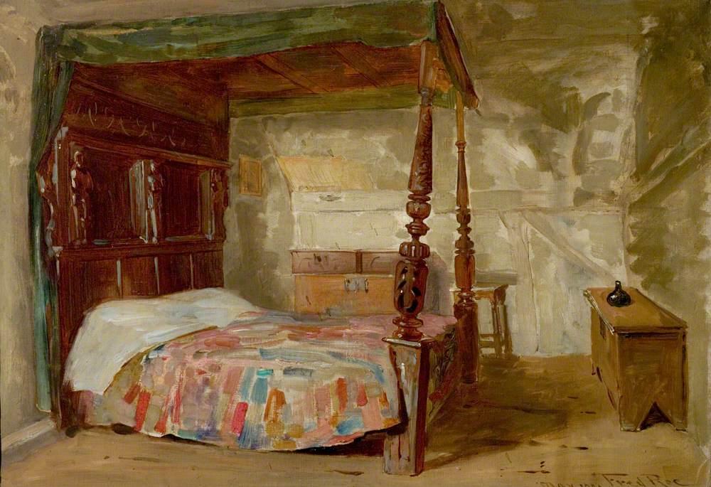 Bedchamber in Anne Hathaway's Cottage, Shottery, Stratford-upon-Avon, Warwickshire