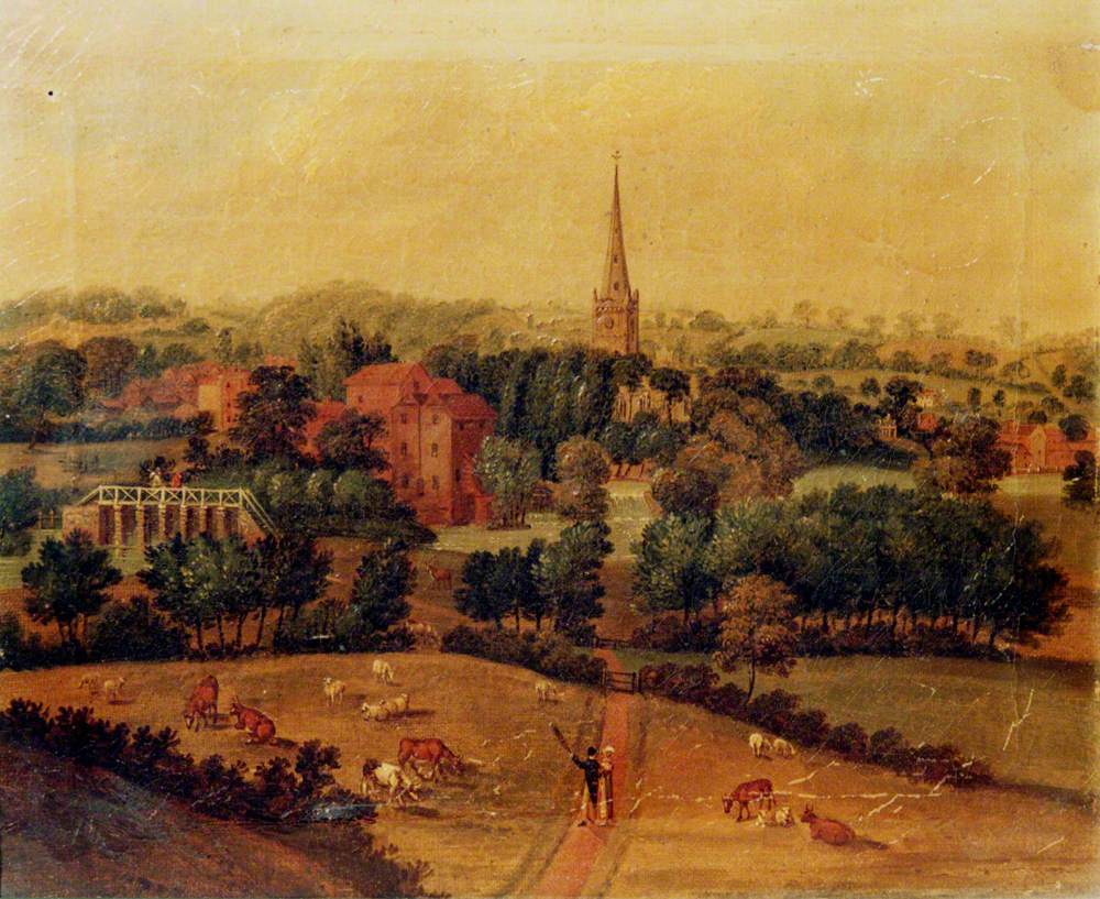 Stratford-upon-Avon, Warwickshire, from Cross-o'the-Hill
