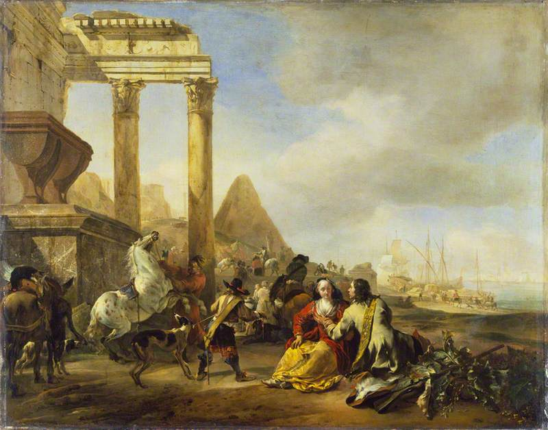 A Coast Scene with Classical Ruins