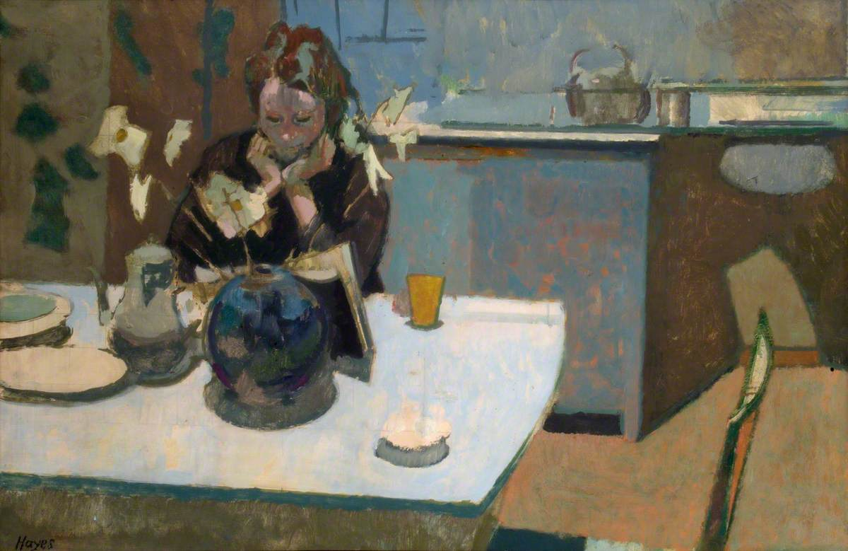 Interior: Girl Seated at a Table