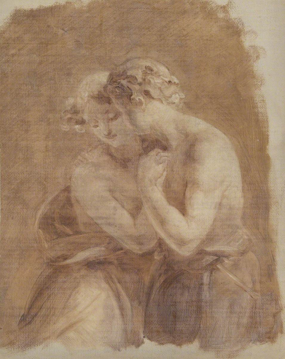 Sketch of Couple Embracing