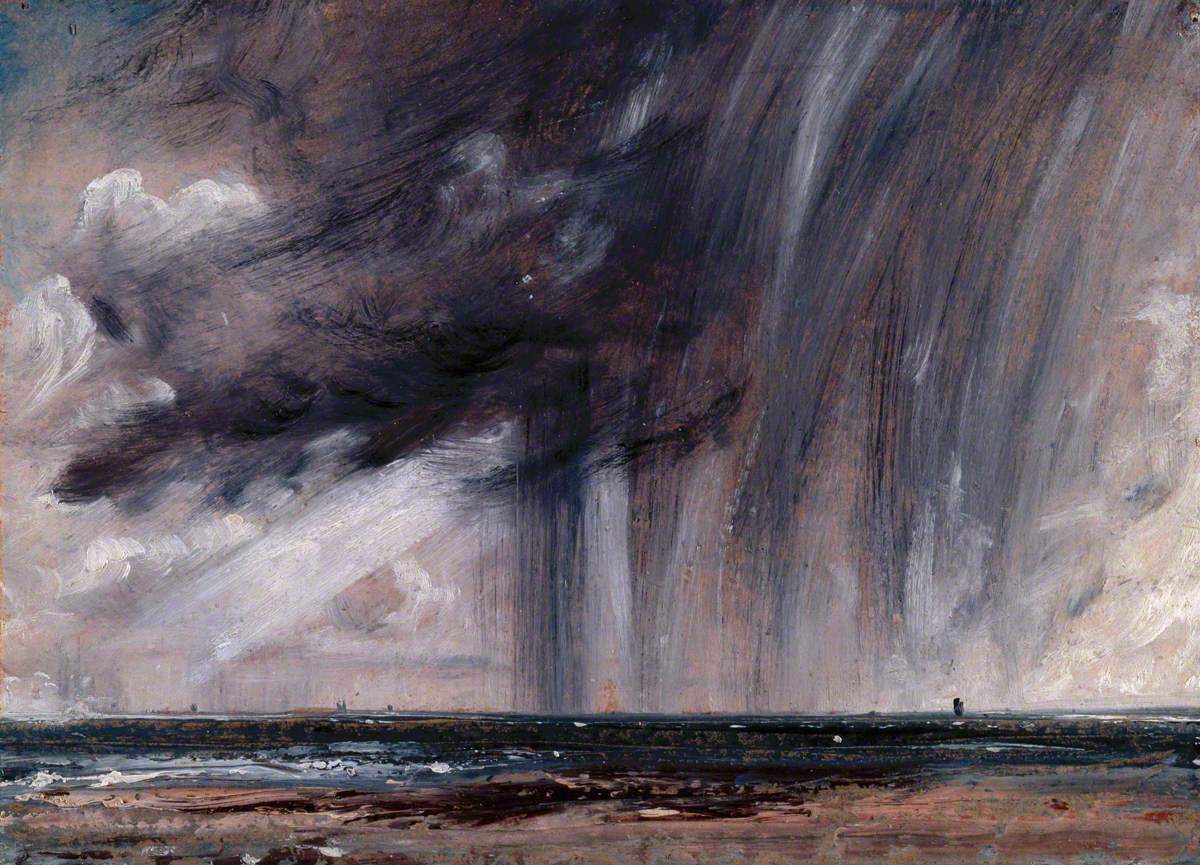 Rainstorm over the Sea