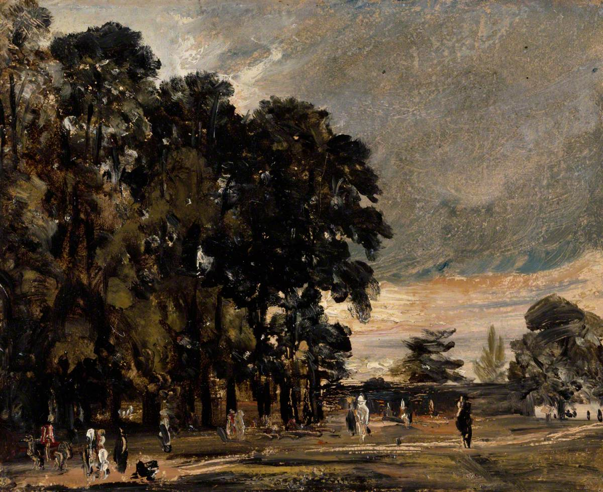 Landscape Study: Figures by a Clump of Trees