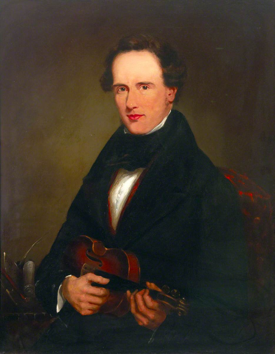 Portrait of a Man with a Violin