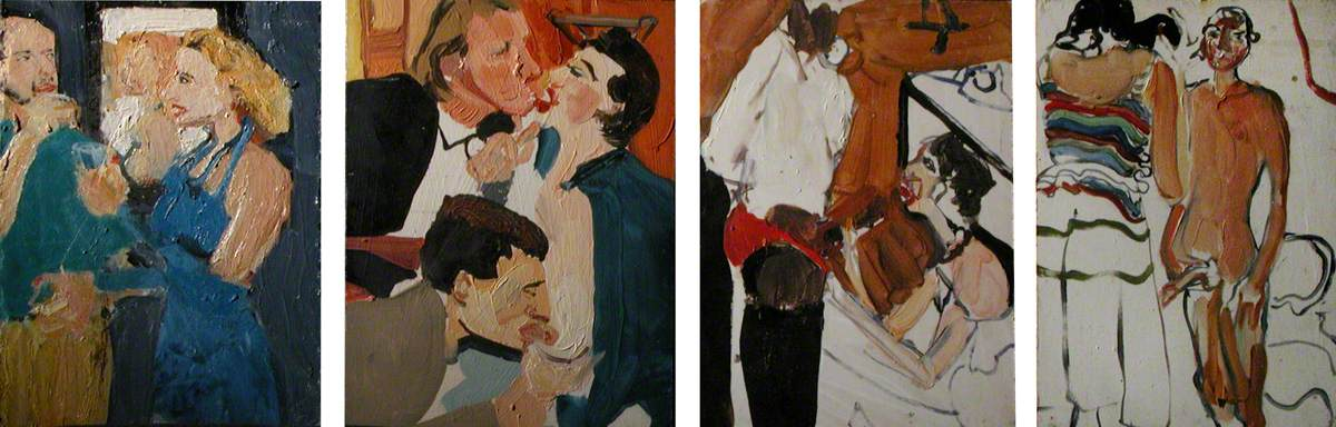 Untitled: Series of Four Paintings (A, B, C, D)