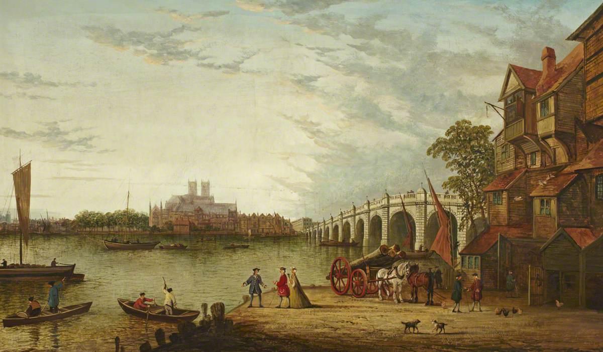 Old Westminster Bridge from Lambeth