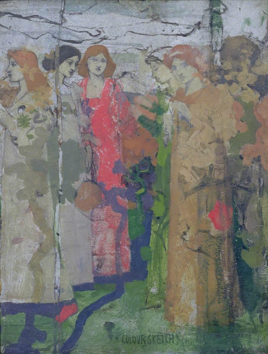 Colour Sketch, Saint Agnes