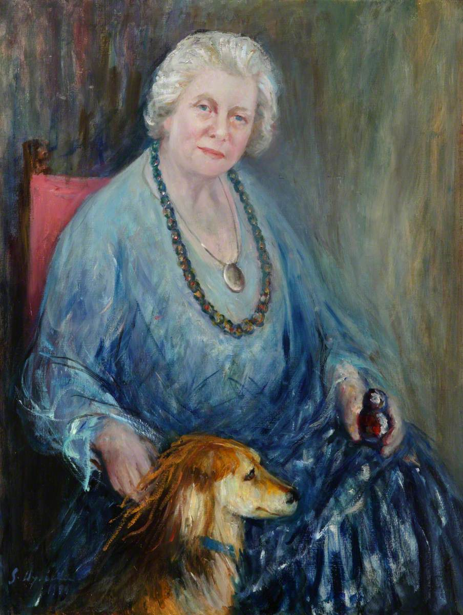Dr Josephine Lomax-Simpson (1925–1999), FRCPsych, and 'Lulu' the Dog