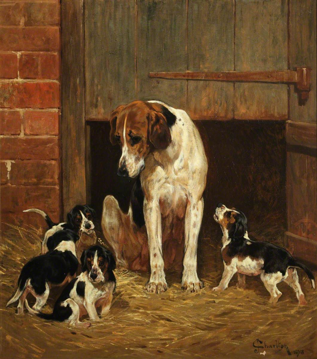 Foxhound and Litter