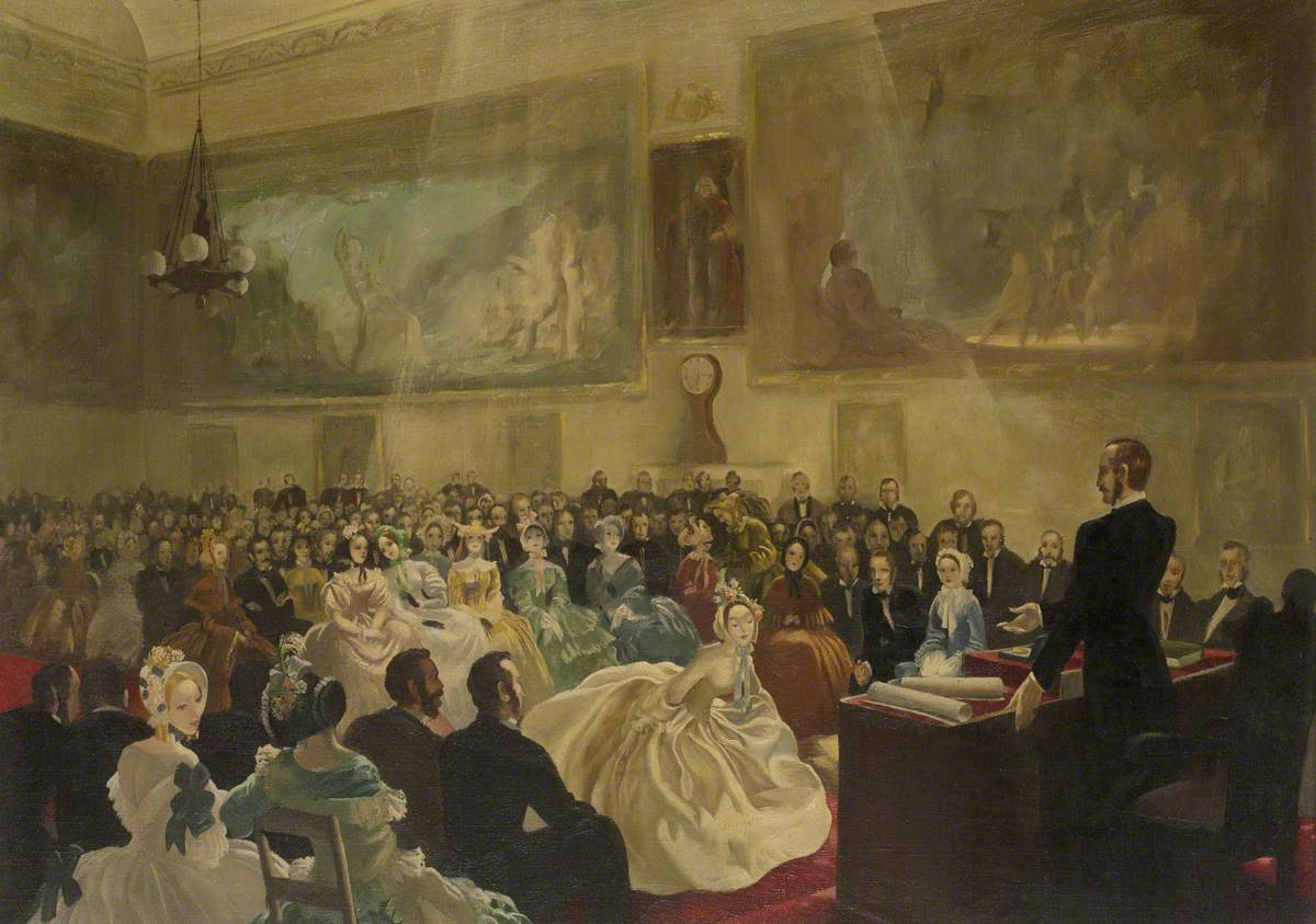 The Prince Consort, President of the Society of Arts, Presenting Medals in the Society's Hall in 1849