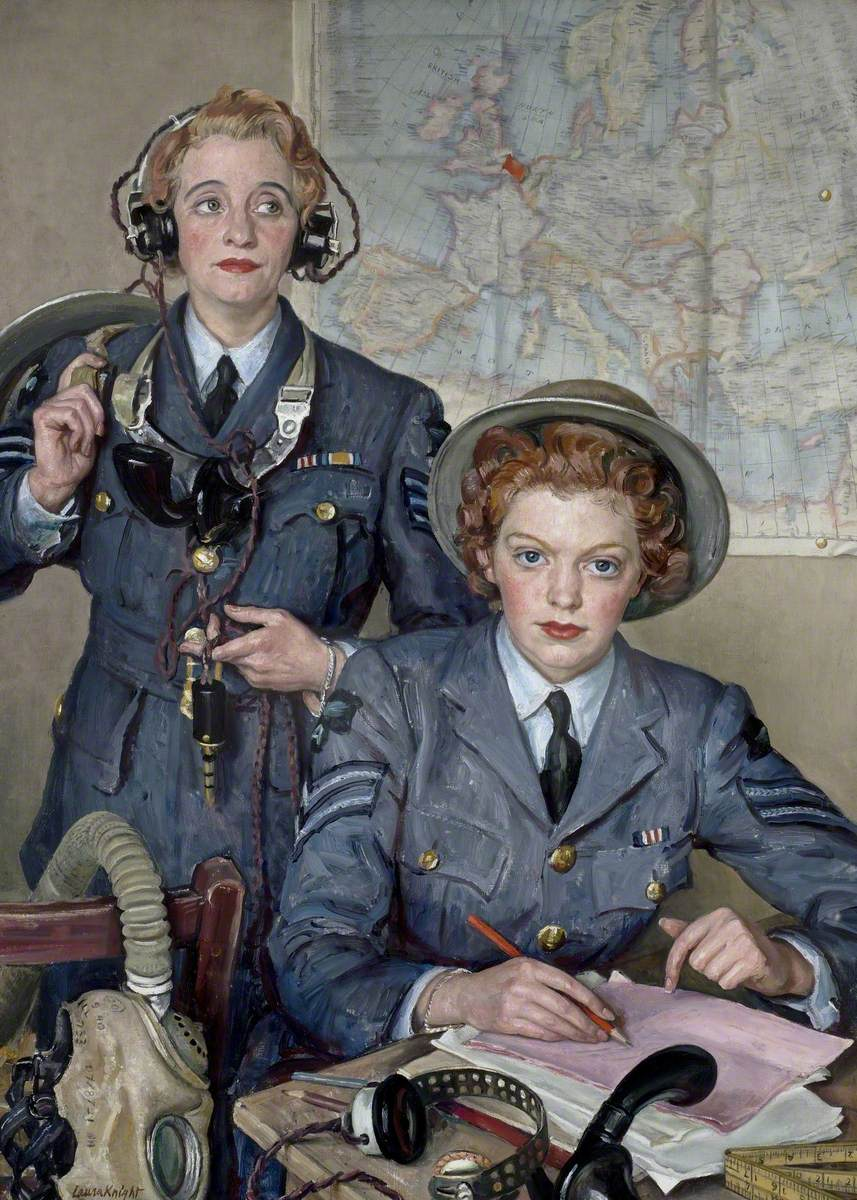 Assistant Section Leader E. Henderson, MM, and Sergeant H. Turner, MM, Women's Auxiliary Air Service